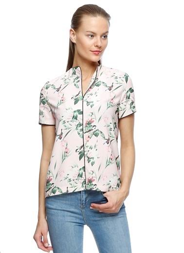 Çiçek Desenli Bluz-House Of Camellia